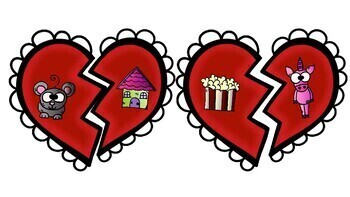 St Valentine rhyme-Activity for centers about hearts