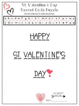 St.Valentine's Day Decoding Fun Printable