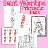 St. Valentine's Day Printable Pack (Craft, Coloring Pages,