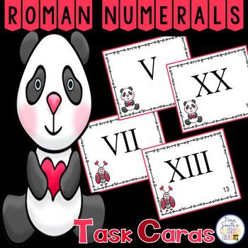 St Valentine's Day Roman Numerals Task Cards