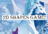 2D Shape Frozen Game - Picture and Word Prompts - Grades K