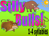 Syllables Silly Bulls Game - 1,2,3,4 Syllable Words - 4 Ga