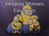 World Countries Sleeping Minions Game - Picture and Word Prompt - K-3 - PPT