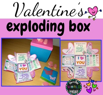 St Valentine's day Exploding Box craft card fun