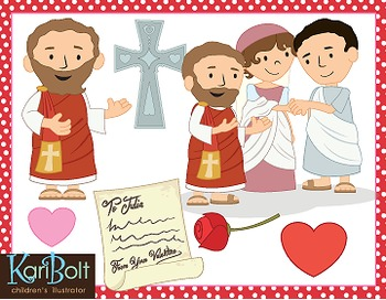 St Valentine, the Story of a Saint Clip Art.