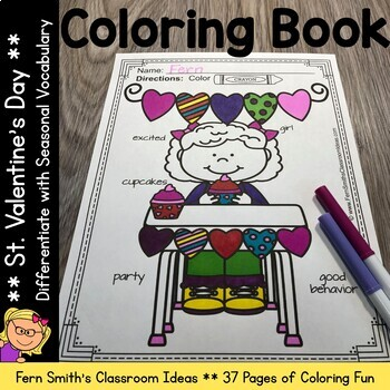 St. Valentine's Day Coloring Pages with Differentiated Sea