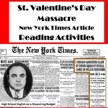 St. Valentine's Day Massacre Reading Questions (New York Times Article)