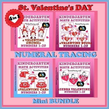 St. Valentines Tracing Numbers Bundle