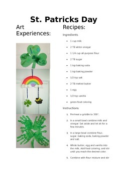 St.Patrick's Day Activities for a fun filled day!