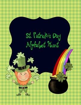 St.Patrick's Day Alphabet Matching Game