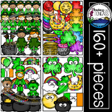 St. Patrick's Day Clipart MEGA Set (Leprechaun Clipart)