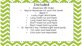 St.Patrick's Day Literacy Stations PK/K/1 Activities