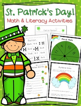 St.Patrick's Day - Math and Literacy Bundle
