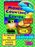 St.Patrick's Day Money Counting Math Center Activities