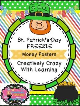 St.Patrick's Day Money Posters Freebie!