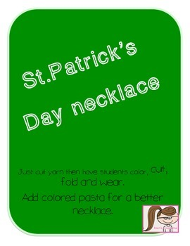 St.Patrick's Day Necklace FREEBIE