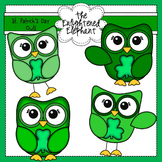 St.Patrick's Day Owls Clip art