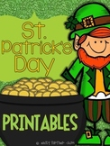 St.Patrick's Day Printables for Kindergarten