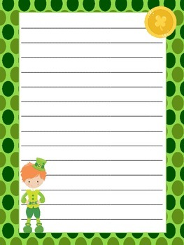 St.Patrick's Day Themed Writing Paper