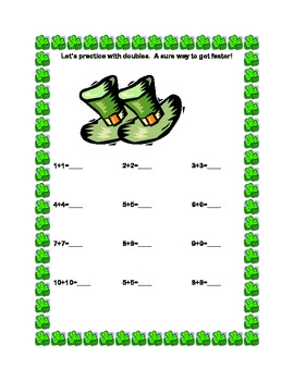 St.Patrick's Math Addition+Subtraction within 20 Sequenced Printable Worksheets