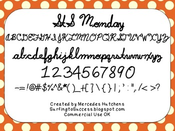 StS Monday Font: Commercial Use OK