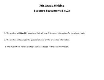 Life Skills Writing B Level 2 Revising