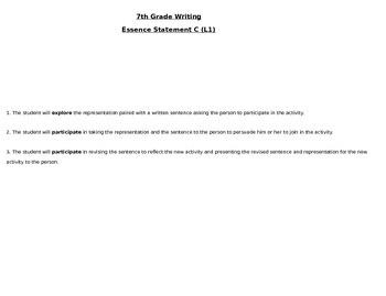Life Skills 7th Grade Writing C Level 1 Persuasive