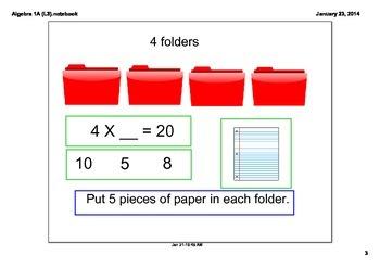 Life Skills Algebra 1A Level 3 Multiplication and Division