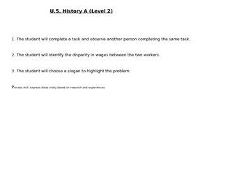 Life Skills U.S. History A Level 2 Research
