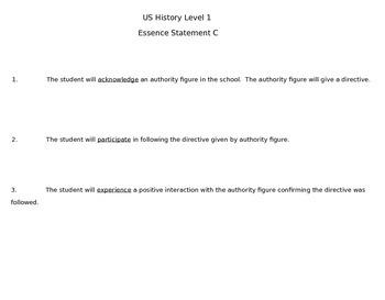 Life Skills US History C Level 1 Authority Figures
