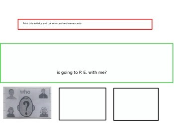 """Life Skills Writing 7 B Level 1 Asking """"Who"""" Questions"""