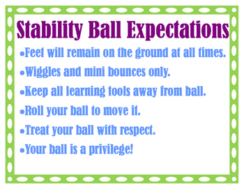 Stability Ball Expections