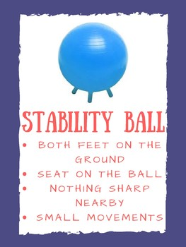 Stability Ball Poster