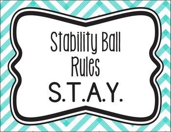 Stability/Yoga Ball Rules