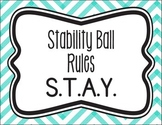 Stability/Yoga Ball Rules