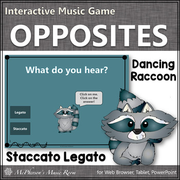 Staccato and Legato - Interactive Music Game (raccoon)