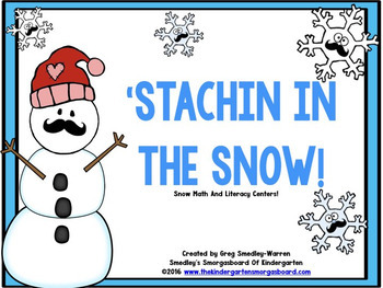 Winter Math And Literacy Centers: Staching' In The Snow!