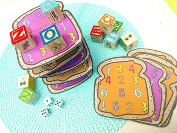 Stack A Sandwich Math & STEM Game (Numerals 1-6)