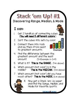 Stack 'Em Up - Range, Median, Mode
