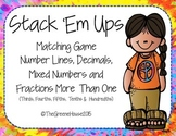 Stack 'Em Ups Matching Game Mixed Numbers and Fractions Mo