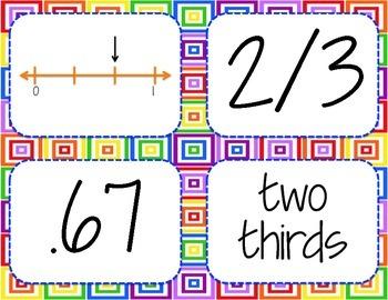 Stack 'Em Ups Matching Game (Thirds, Fourths, Fifths, Tenths)