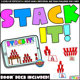 Stack It! Cup Stacking Task Cards and Game + Bonus BOOM Cards™