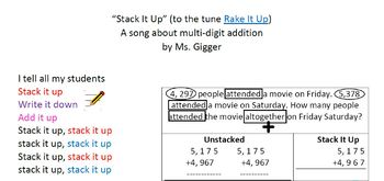 Stack It Up Rap Multi-digit Addition Song
