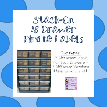 Stack-On 18 Drawer Labels - Pirate Theme