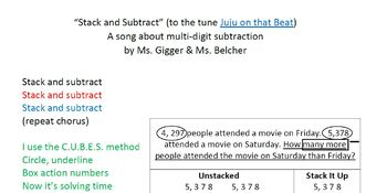 Stack and Subtract Rap Multi-digit subtraction Song
