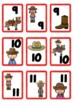 Stack 'em Up Western theme cards numbers 1-20