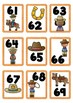 Western Theme Cards Numbers 1-100