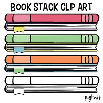 Stack of Books Clip Art | Library Decor Book Clipart | Reading Clipart