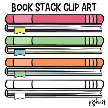 Stack of Books Clip Art | Library Decor Book Clipart | Rea
