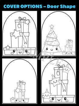 Stack of Gifts with Christmas Stars - Moonju Makers for Activity, Craft, Writing